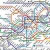 Subway systems of the world all presented on the same scale.