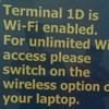 Be careful when taking advantage of free wifi, even in designated areas.