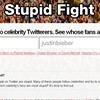 Choose two celebrity Twitterers and see whose fans are dumber with one handy site.